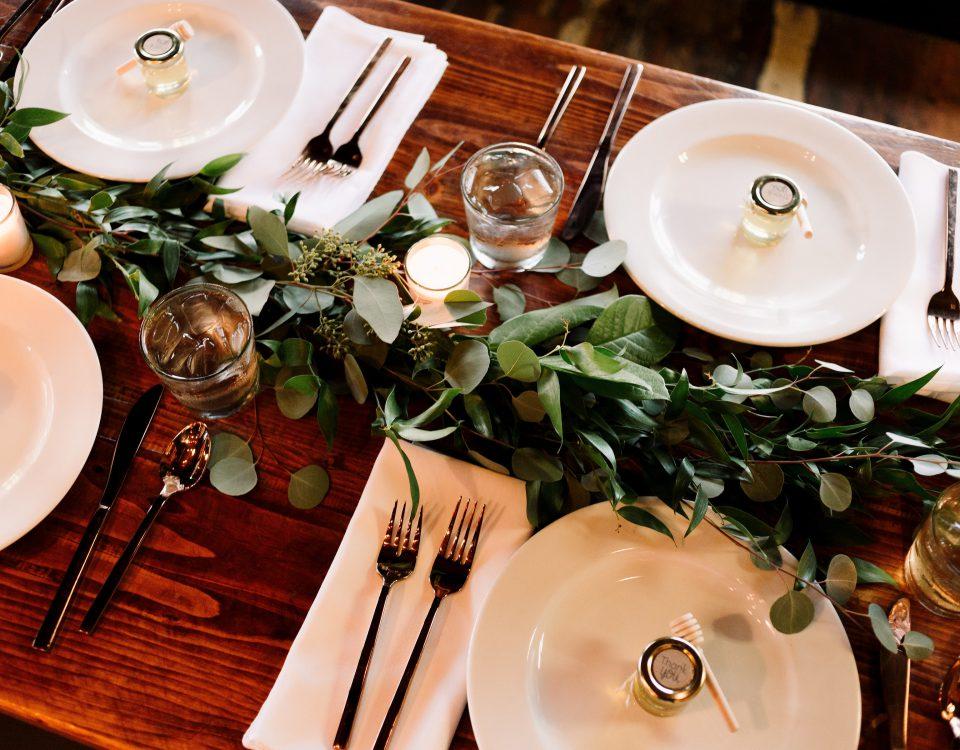 gerechten op een bruiloft